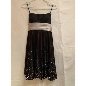 JUMP Apparel Black Dress w/ Silver Embellishments